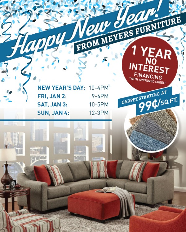 Charmant Meyers New Years Sales Event E1419890905154