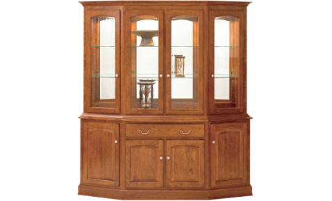 "MANCHESTER CANTED HUTCH 76"" BUFFET & HUTCH"