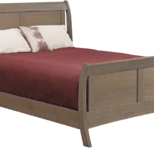 AMERICAN REVIEW SLEIGH BED